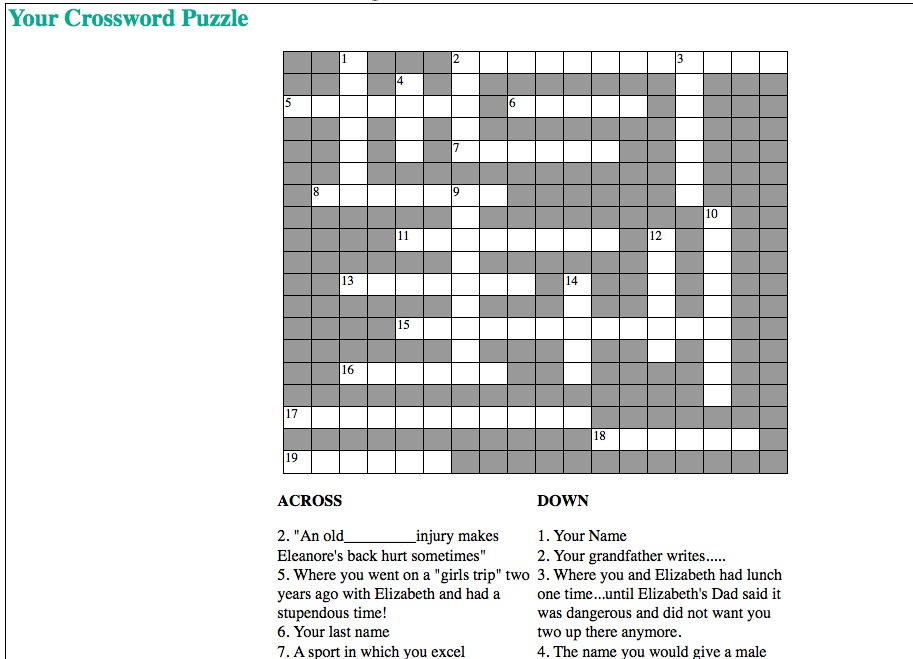 how to make your own crossword puzzle on paper